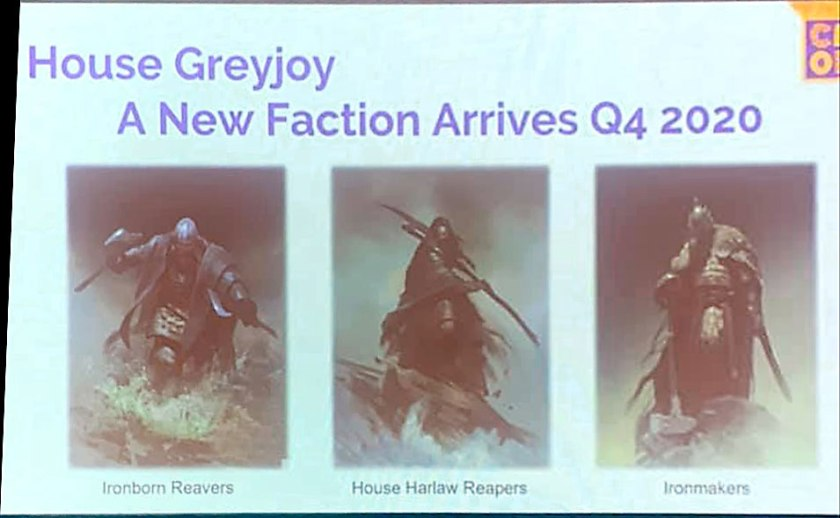 Nouvelle faction : les Greyjoy